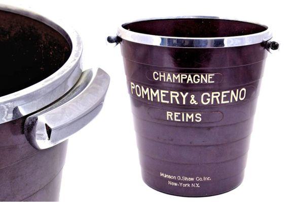 Pommery & Greno Champagne bucket in crack-free bakelite!